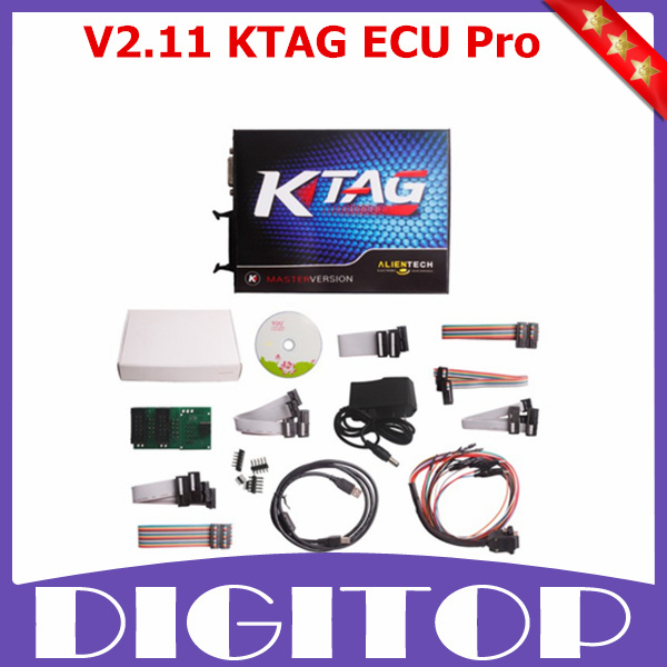 V2.11 ktag k-tag ecu programming tool master version with unlimited token hardware v6.070 with ecm ti