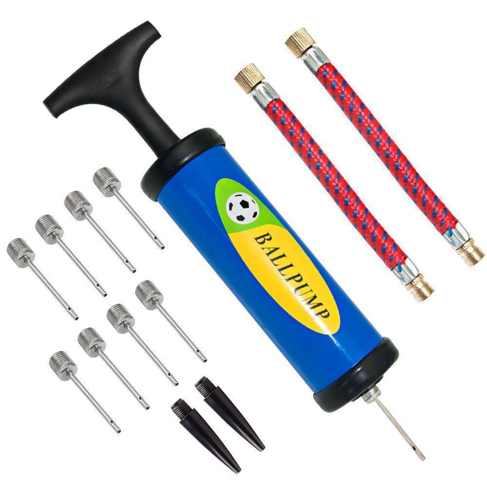 цена на Inflator Ball Pump Needles Valve Adapter Set for Basketball Football Balloons Volleyball and Rugby