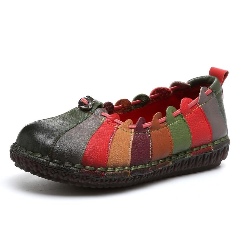 Nouveau Correspondant La Chinois Tête À Noir Couleur En Style Automne Bouche Casual Simples pourpre vert Peu 2018 Main D'origine Chaussures Ronde Profonde Cuir C8Crx47