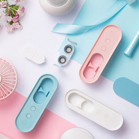 Mini Portable Ultrasonic Contact Lenses Cleaner Rechargeable Fast Vibration Sonic Colorful Lens Cleaning Machine Storage Box