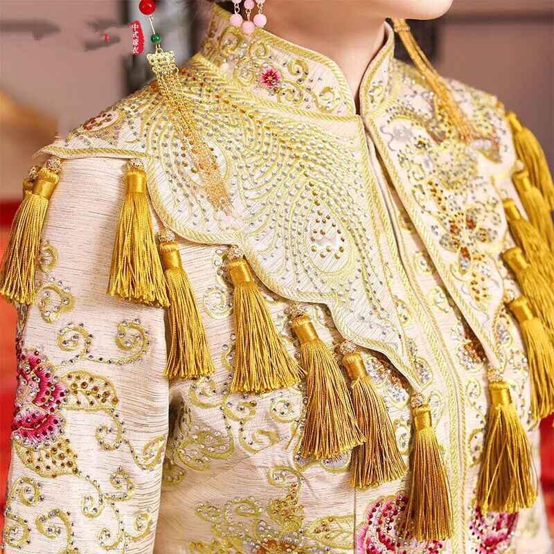 סיני מסורתי הכלה בגדי pratensis סגנון נשי שמלת כלה שמלת דרקון slim cheongsam זוג אדום ערב שמלת חלוק