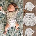 Bebê recém-nascido Meninos Meninas Algodão de Manga Comprida Macacão Bodysuit Primavera Outono Quente Roupa Dos Miúdos Roupa