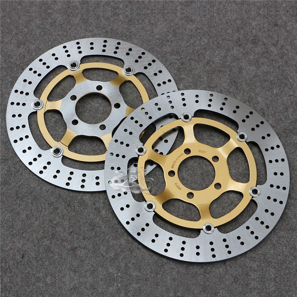 Floating Front Brake Disc Rotor For Kawasaki ZZR250 ZZ-R400 ZXR400 ZL600 EJ650 W650 Motorcycle