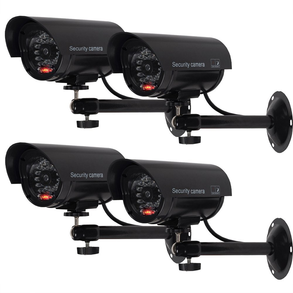 Patio Lights With Cameras: ANTCREST Bullet Dummy Fake Surveillance Security CCTV Dome