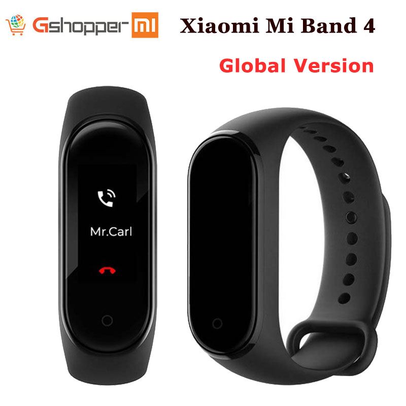 Original Xiaomi Mi Band 4 Smart Miband Color Screen Bracelet Heart Rate Fitness Sport Music Bluetooth 50M Waterproof