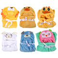 Cartoon Animals Flannel Toddler Bedding Baby Kid's Hooded Bath Towel Coral Velvet Toddler Soft Cute Blanket Baby Robe Bedding