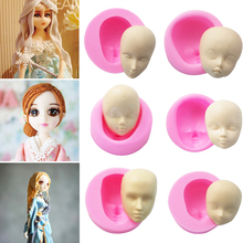 1PC Hot Visual Heat Resisting Silicone Baby Face DIY Cake Mold Baking Decoration Tools Fondant Pastry Tools