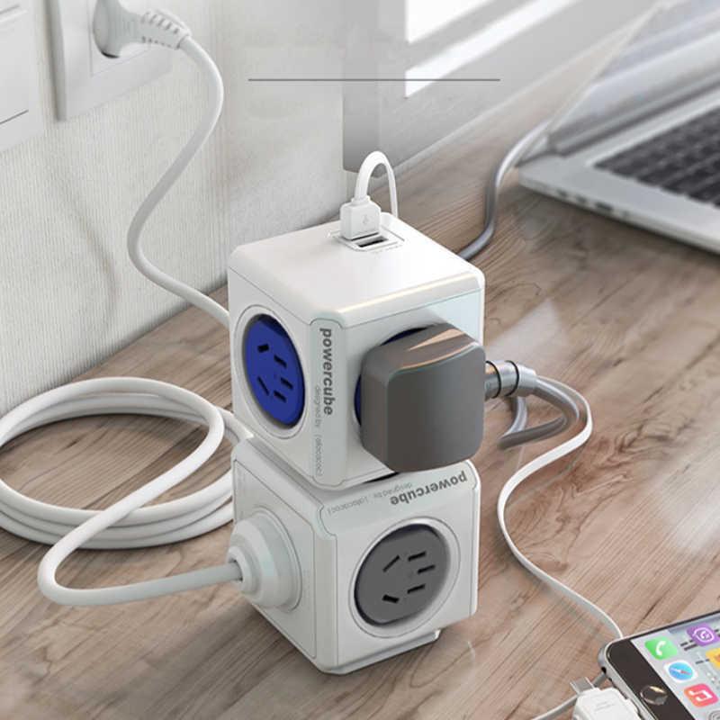 Allocacoc inteligentna wtyczka powercube elektryczny USB listwa elektryczna dla australii nowej zelandii rozszerzenie gniazdo podróży adaptery do domu