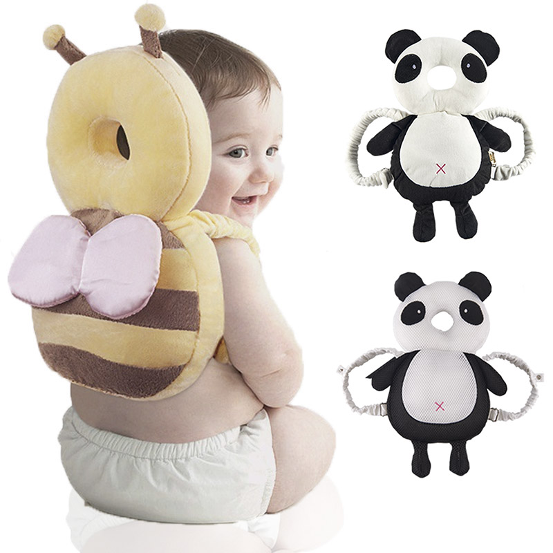 Muslinlife 2018 New Arrival  Infant Toddler Head Back Protector Safety Pad Harness Headgear Cartoon Baby Head Protection Pad