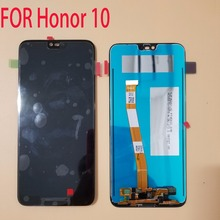 """מקורי עם טביעת אצבע 5.84 """"עבור Huawei Honor 10/Honor10 LCD תצוגת מסך מגע Digitizer עצרת + כלים"""