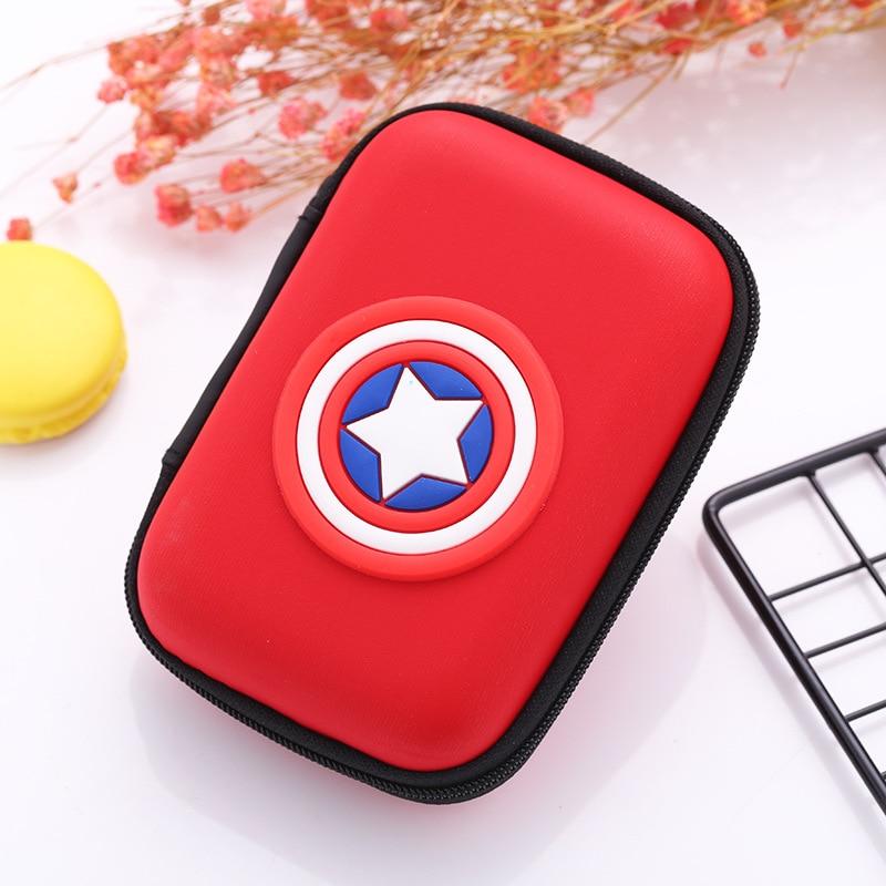 Gifts Anime Cartoon Silicone Coin Purse Hero Captain America Superman Batman LOGO Earphone Bags Men Women Mini Coins Key Wallets