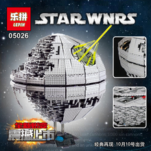 Free shipping LEPIN 05026 Star Wars Death Star Building Block Bricks Toys Kits Minifigure Compatible10188 Christmas gifts