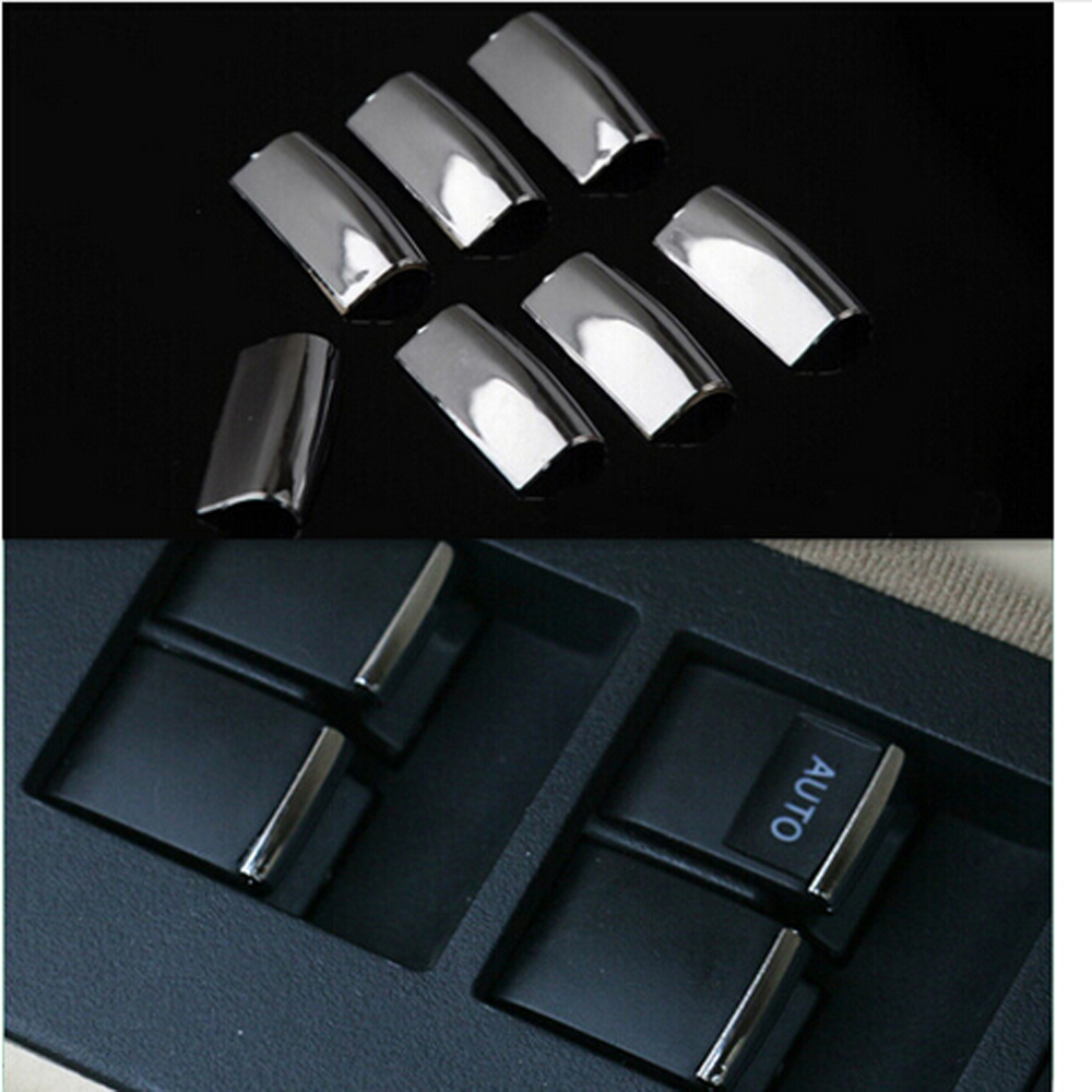 car stainless steel windows lift switch sticker door button interior decoration for toyota rav4. Black Bedroom Furniture Sets. Home Design Ideas