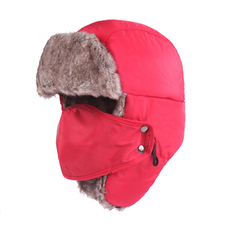 6f8b882cb Winter Trooper Trapper Pilot Aviator Russian Ushanka Style Ski Hunting Hats  Cap with Ear Flaps and Face Mask for Men & Women