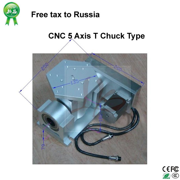 No Tax to Russia, CNC 5 Axis T Chuck Type Include A Aixs & Rotary Axis For CNC Router CNC Router CNC Milling Machine no tax to russia cnc 5 axis t chuck type include a aixs