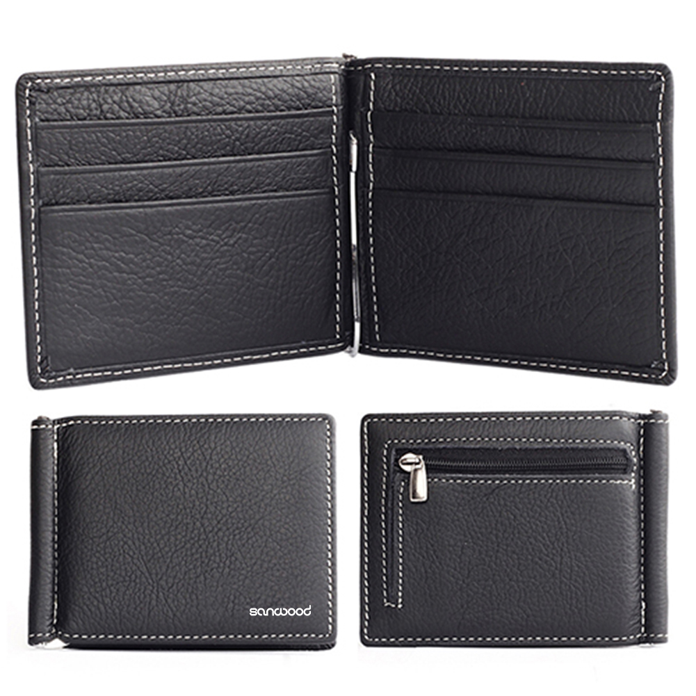 Mens Pu Leather Bifold Wallet Credit//ID Card Holder Slim Small Coin Purse