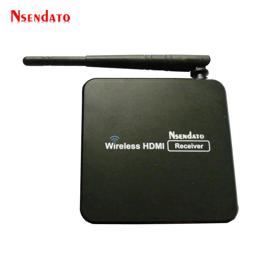 جهاز إرسال فيديو لاسلكي 1080P 5.8GHz جهاز استقبال مرسل HDMI H.264 موسع لاسلكي واي فاي مع جهاز تحكم عن بعد IR يصل إلى 100m