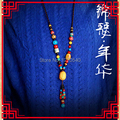 fashion ethnic evade necklace vintgae turquoise colorful stones jewelry,blood bodhi beeswax necklace, handmade ceramic necklace