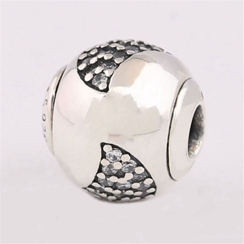 Small Hole 2019 New 925 Sterling Silver Bead Happy Leaf Essence Charm Fit Original Pandora Bracelet Bangle for Women DIY Jewelry in Beads from Jewelry Accessories
