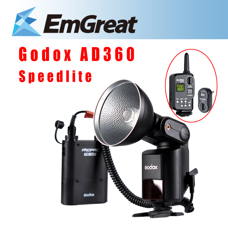Original Godox AD360 AD-360 360WS Wireless Power Control Outdoor Flash Light Speedlite Power Battery Pack+16 Channels Trigger aputure 16 channel flash speedlite