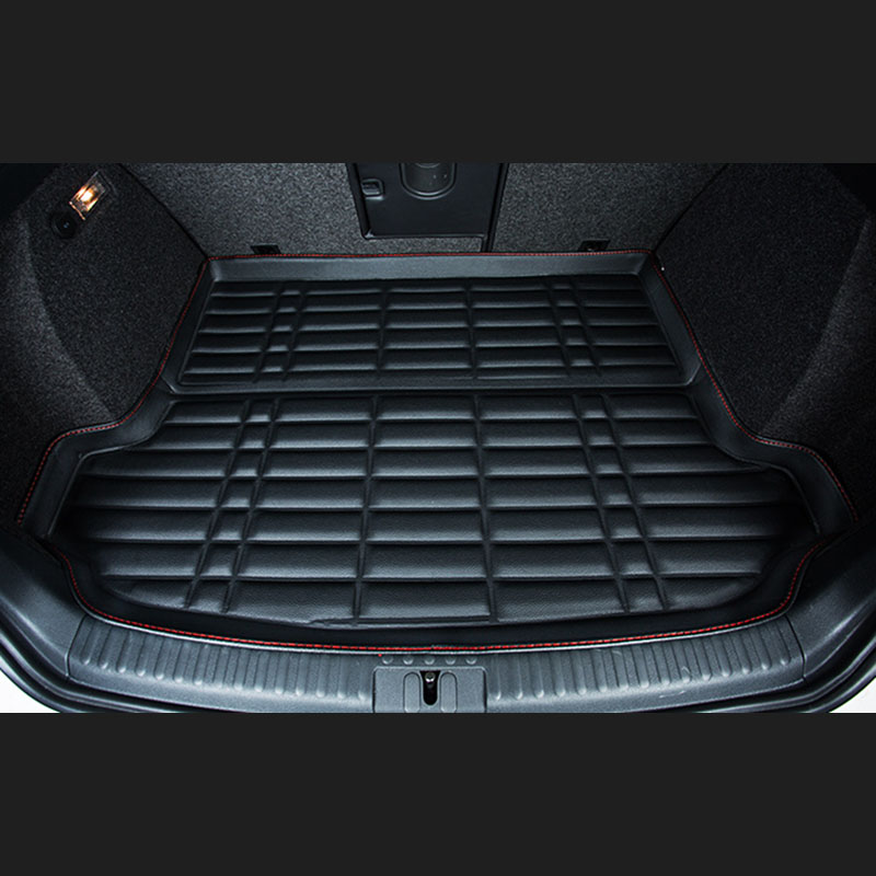 Fit Car Custom Trunk Mats Cargo Liner for Ford focus Mondeo kuga eco sport fiesta Car-styling 5D Carpet Rugs fit for ford mondeo focus explorer edge taurus kuga escort ecosport boot liner rear trunk cargo mat floor tray carpet