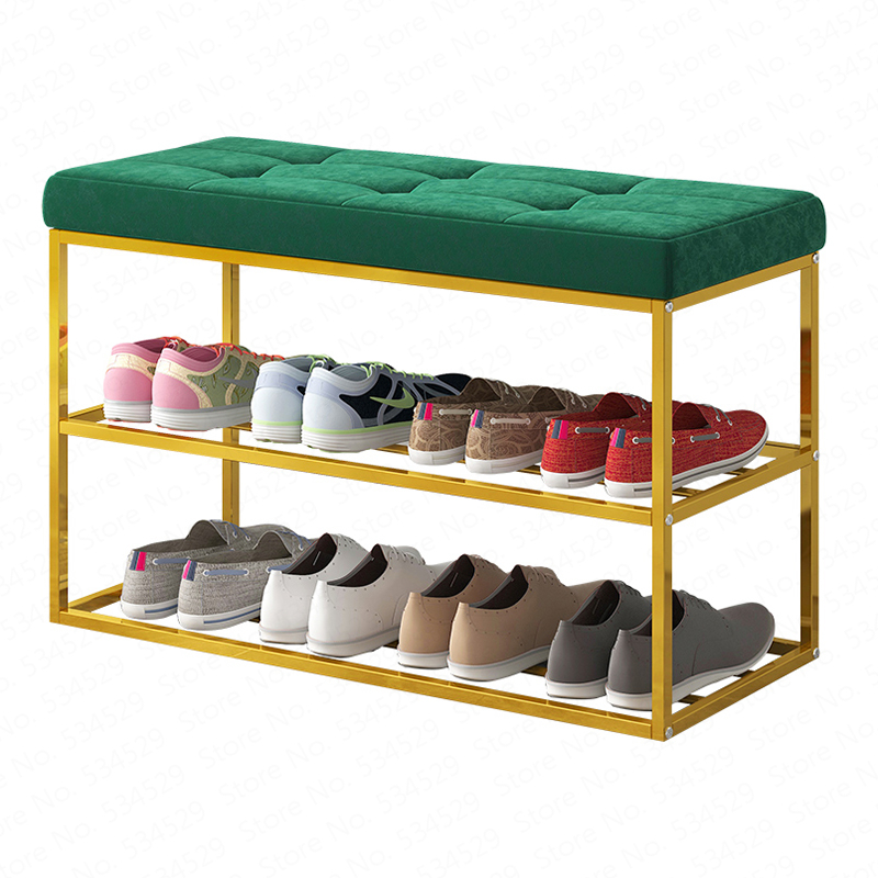 1Shoe Bench Home Doorway Shoe Stool Can Sit Shoe Rack Rectangular Stool Simple Shoe Rack European Storage Stool