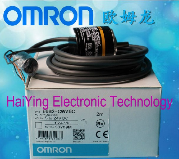 New and original E6B2-CWZ6C  OMRON  Incremental rotary encoder  Photoelectric rotary encoder   1024P/R  5-24VDC e6a2 cs5c 50p r rotary encoder new e6a2cs5c 50p r 50pr compact size e6a2 cs5c