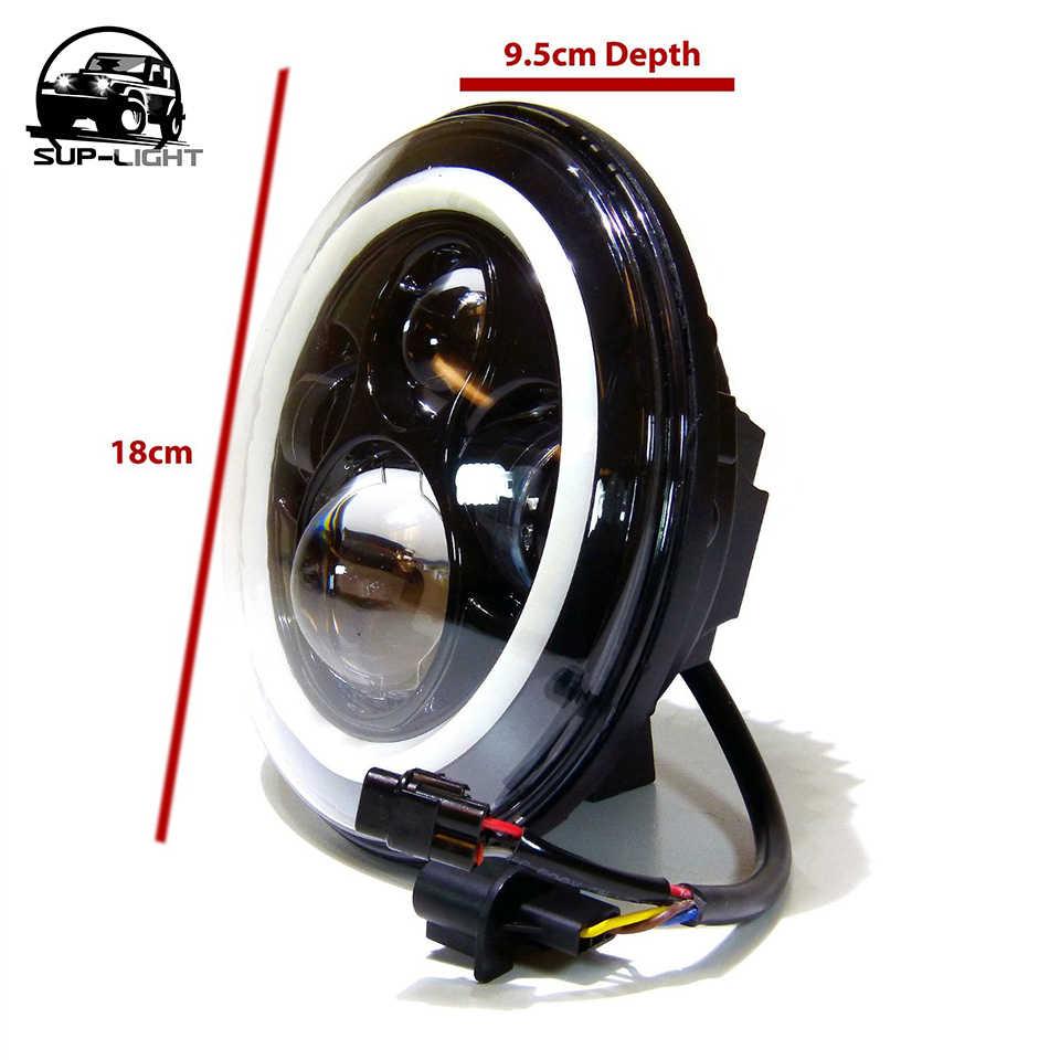 (2 шт./лот) H4 45 Вт светодиодная фара головного света hi/короче спереди и длиннее сзади) фары ближнего света с Ангел глаз halo Кольцо DRL сигнал поворота для Hummer H1 H2 2003-2009