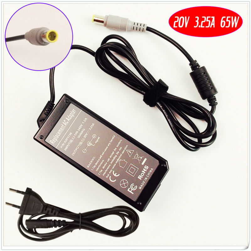20v 3.25a 65w Traveling Laptop Ac Power Adapter Charger For Lenovo Thinkpad T60 T61 T60p T61p T400 T410 T420 T430 T500 T510 T520 Laptop Accessories