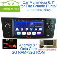 Новейший Android 8,1 Octa Core gps Навигация стерео 6,1 автомобиль DVD мультимедиа для Fiat Grande Punto/Linea 2007 2012 с Радио/RDS