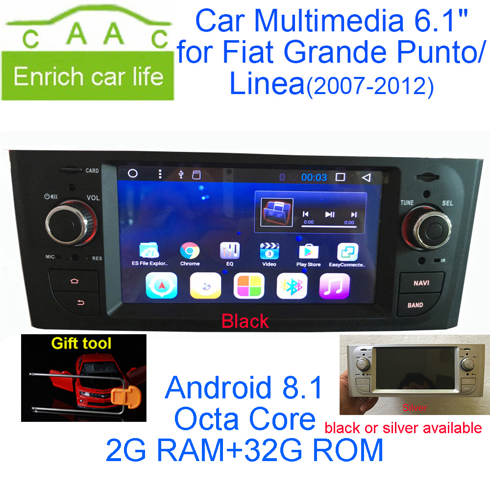 Fiat Linea 2007 2013 Remote Start Wiring Diagrams Vehicle Ducato Diagram Newest Android 81 Octa Core Gps Navigation Stereo 61 Car Dvd Multimedia For Grande