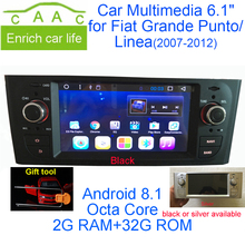 Newest Android 8.1 Octa Core GPS Navigation Stereo 6.1″ Car DVD Multimedia for Fiat Grande Punto/Linea 2007-2012 with Radio/RDS