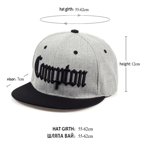 2019 new Compton embroidery baseball Hats Fashion adjustable Cotton Men Caps Traker Hat Women Hats hop snapback Cap Summer Islamabad