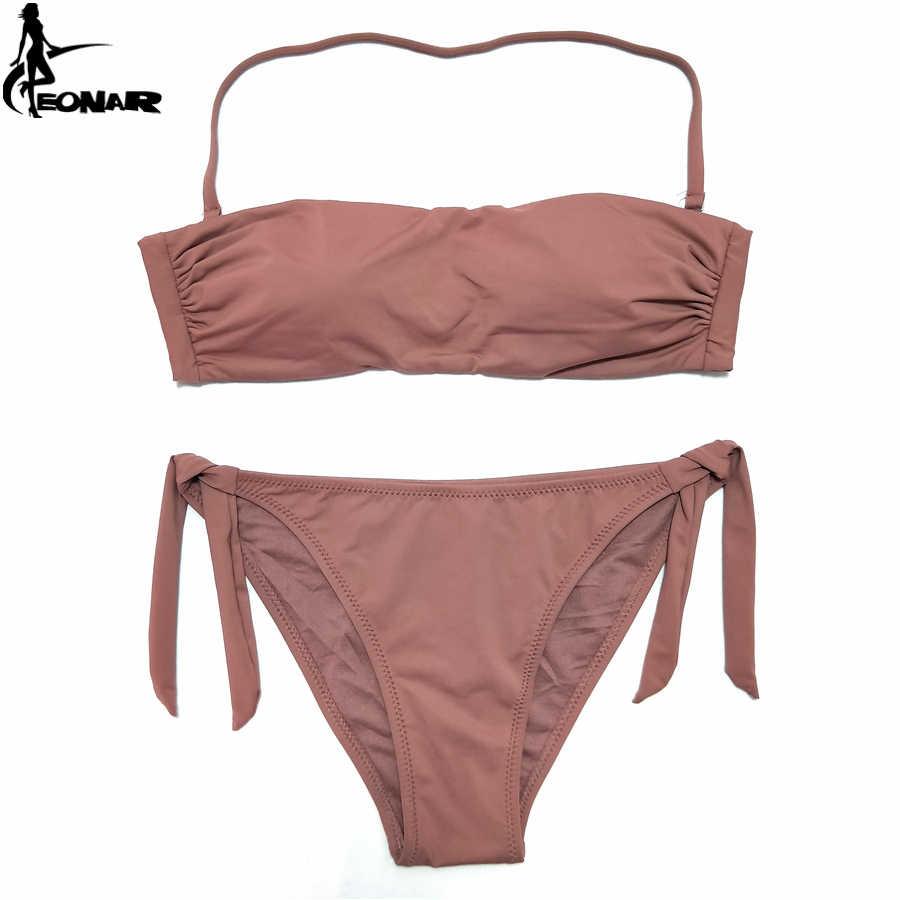 d216c75a3a5 EONAR Bandeau Bikinis 2018 Women Swimsuit Push Up Brazilian Bikini Set  Swimwear Female Bathing Suits Maillot