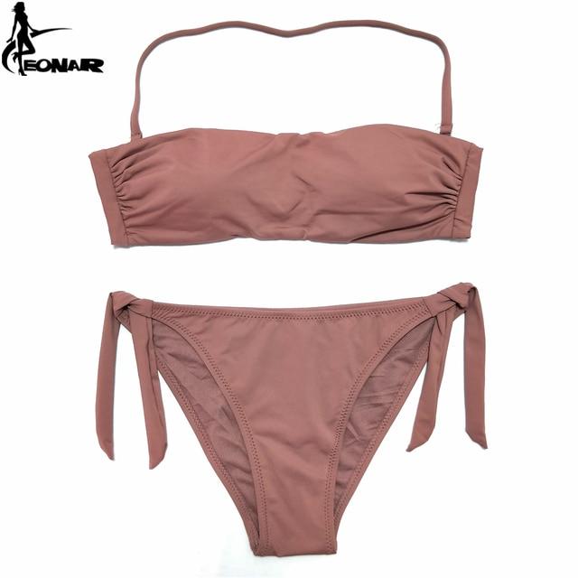 6e85992b7f8 EONAR Bandeau Bikinis 2018 Women Swimsuit Push Up Brazilian Bikini Set  Swimwear Female Bathing Suits Maillot De Bain Swimming