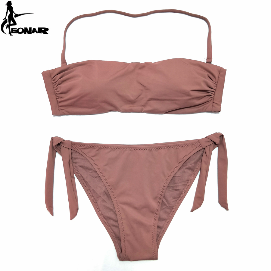 EONAR Bandeau Bikinis 2020 Women Swimsuit Push Up Brazilian Bikini Set Swimwear Female Bathing Suits Maillot De Bain Swimming