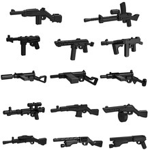10pcs/lot WW2 Guns Military Weapons Rifle Machine Submachine SMG SWAT MOC Part Building Blocks Bricks Toys for Children(China)