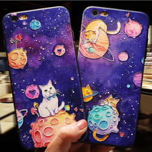 3D Emboss Cute Cat Case For iPhone 11 Pro Max Case For iPhon