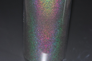 Extra Fine 004 (0.1mm) Rainbow Mirror BLACK Laser Holo Nail Glitter Powder Perfect Shinning Holographic Nails Pigment Dust(China)