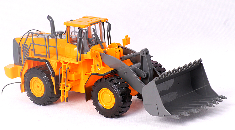 Big Remote Control Digger Kids Rc Electric Excavator Children RC Truck Model Toy Car With Remote Control huina 1510 rc excavator car 2 4g 11ch metal remote control engineering digger truck model electronic heavy machinery toy