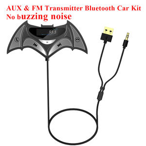 Audio-Receiver-Adapter Hands-Free Bluetooth Car-Kit Fm-Transmitter Music Noise No-Buzzing