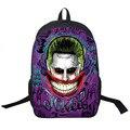 Esquadrão suicida/Harley Quinn/Coringa Mochila Mulheres Homens diário Mochila Estudantes Saco de Escola Sacos De Escola Para Adolescentes Menino mochilas