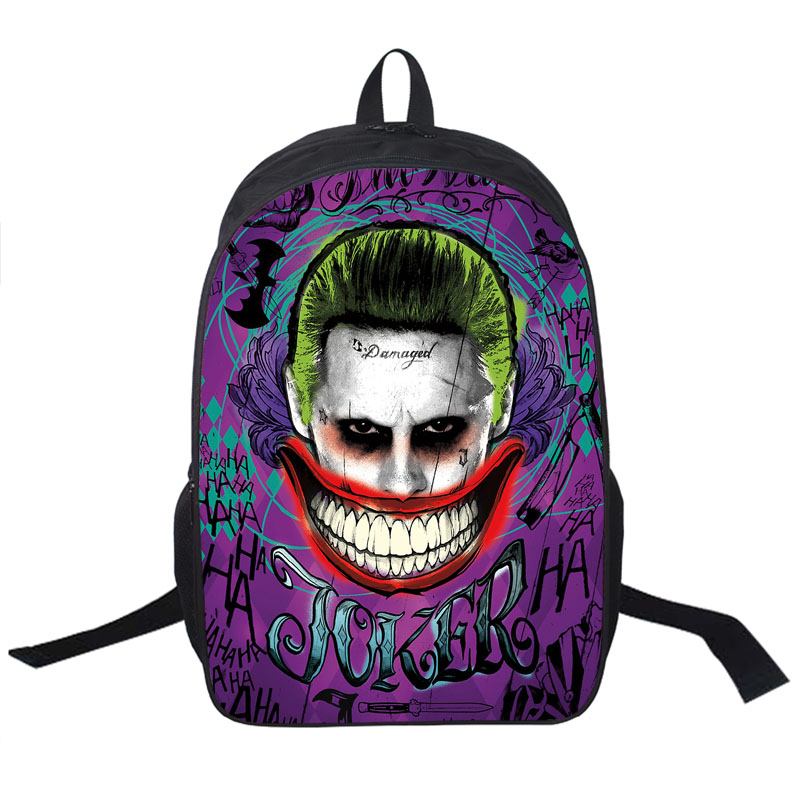 Suicide Squad / Harley Quinn / Joker Backpack Women Men Daily Backpack Students School Bags For Teenage Boy Bag School Backpacks suicide squad harley quinn harleen quinzel high quality pu short wallet purse with button