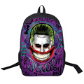 Suicide Squad / Harley Quinn / Joker Backpack Women Men Daily Backpack Students School Bags For Teenage Boy Bag School Backpacks