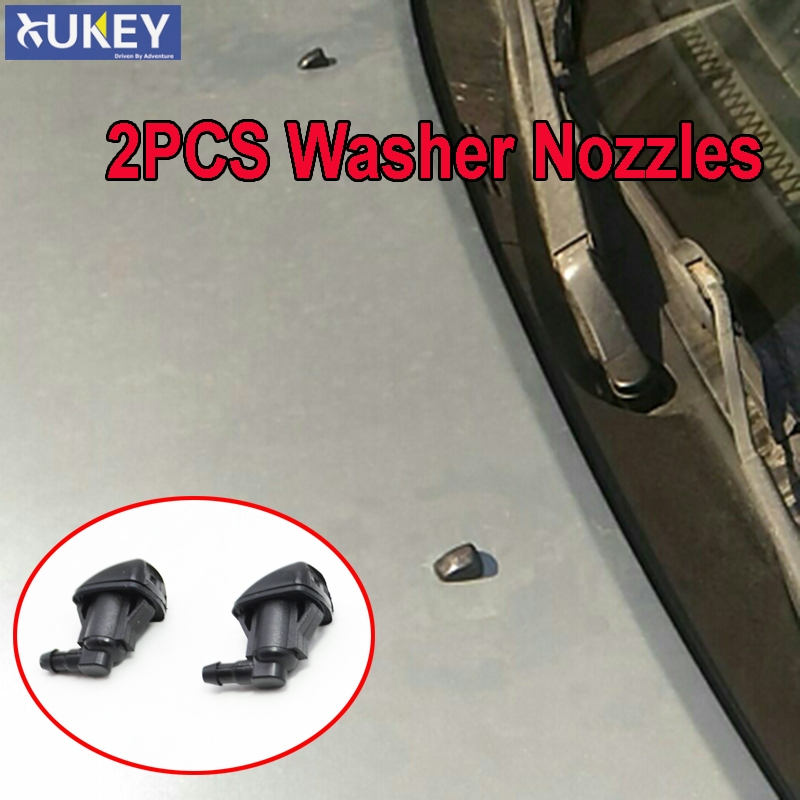 Xukey Front Windshield Wiper Water Washer Jet Nozzle For