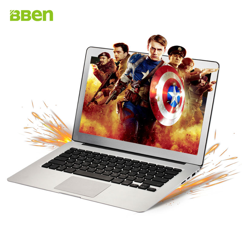BBen AK13 Laptops Ultrabook 13.3 Windows 10 Intel Haswell i5-5200U Dual Core RAM 4G + SSD 64G HDMI WiFi BT4.0 13 inch Notebook