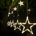 2 m 138 leds led Luzes De Natal AC220v UE LED Estrela Cortina de Luz luzes Do Feriado para o Partido/presente de ano Novo Decorationv Luzes De Natal