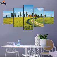 5pcs Mountain Tree Landscape Canvas Print Painting Large HD Wall Art Picture Home Livingroom Decor No