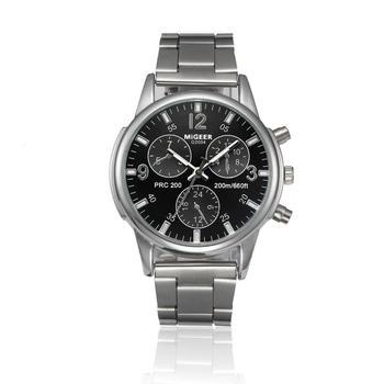 Business Men Watches Quartz Male Watches Hot Sale Delicate Men Crystal Stainless Steel Analog Quartz Wrist Watch Bracelet 5*