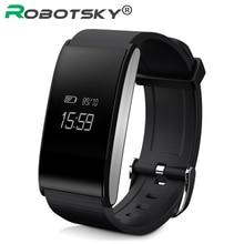 Robotsky IP67 Водонепроницаемый сердечного ритма крови Давление часы браслет крови кислородом монитор браслет с функцией дистанционного SmartBand